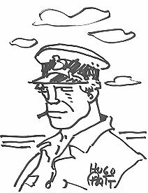 Original drawing of Hugo Pratt