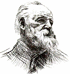 Drawing of Victor Hugo