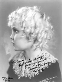 Signed picture of Jean Darling